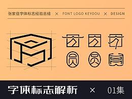 字体标志解析-张家佳字体72变字体创意-第1集