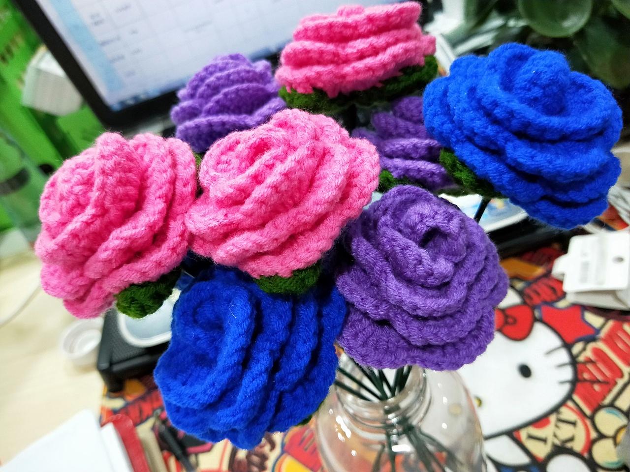 手工编织玫瑰花