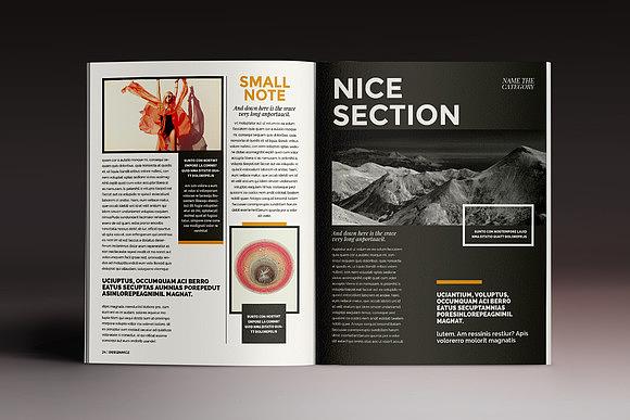 时尚流行画册杂志排版indesign模板模特人物展示indd模板图片
