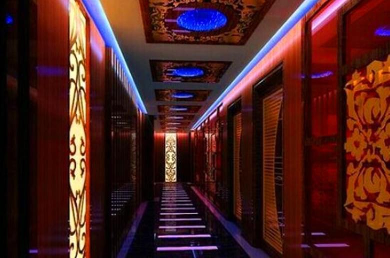 自贡酒吧KTV走廊装修设计效果图|自贡KTV装