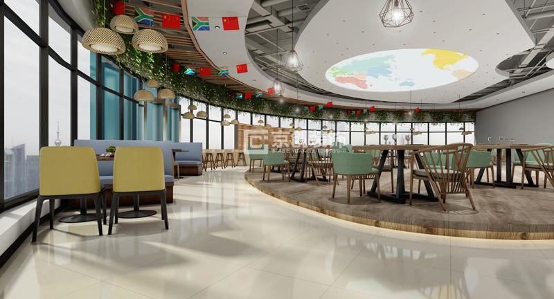 大学校园食堂餐厅装修效果图案例超值分享,郑州高校餐厅装修设计首选图片