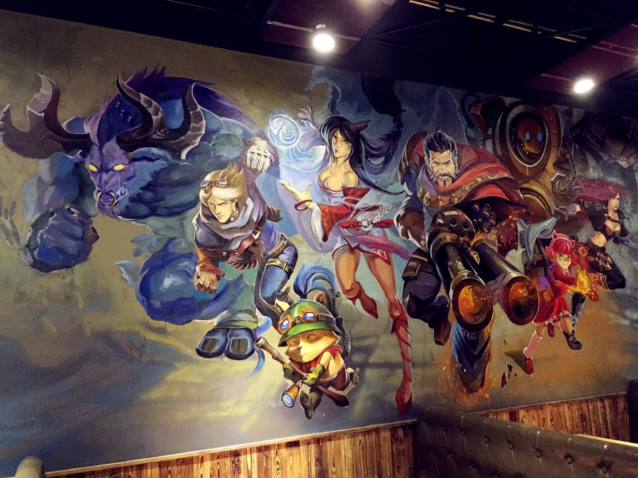 钢铁侠3d立体画 lol英雄联盟手绘墙 其他艺创