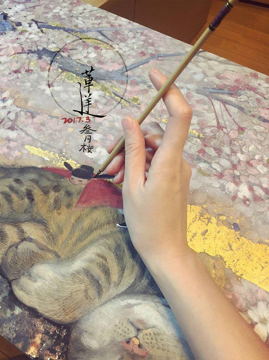 查看《【岩彩】三月樱》原图,原图尺寸:1000x1334
