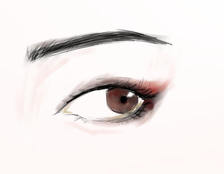 常用压力传感器型�_眼部练习|插画|插画习作|浼南 - 原创作品 - 站酷