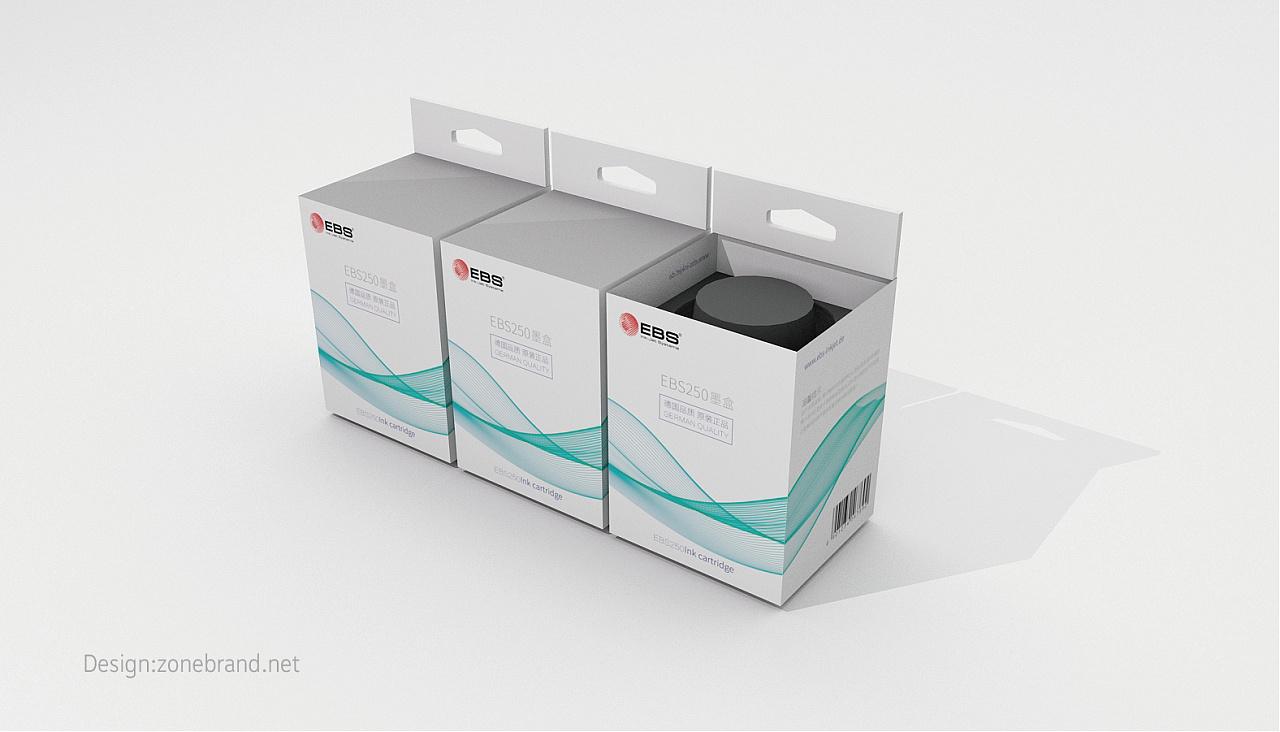 包装设计_打印机配件机械包装设计_墨盒简图产品绘制知乎图片