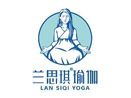 兰思琪瑜伽品牌全案升级 标志设计 VI设计 物料设计