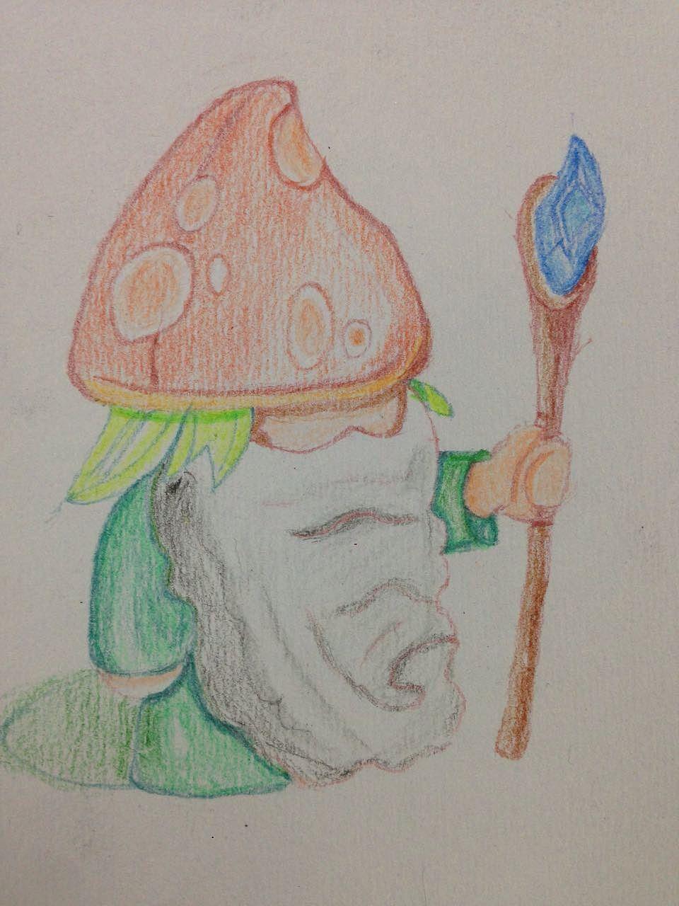 几张素描和彩色笔画图