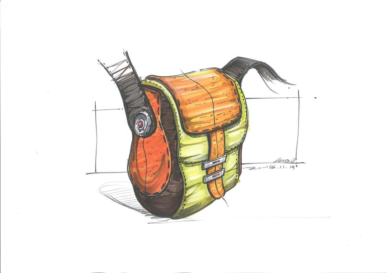 工业设计手绘之包包