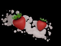 C4D练习-草莓
