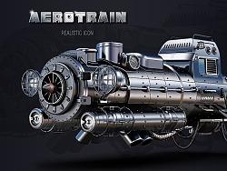 AEROTRAIN REALISTIC ICON