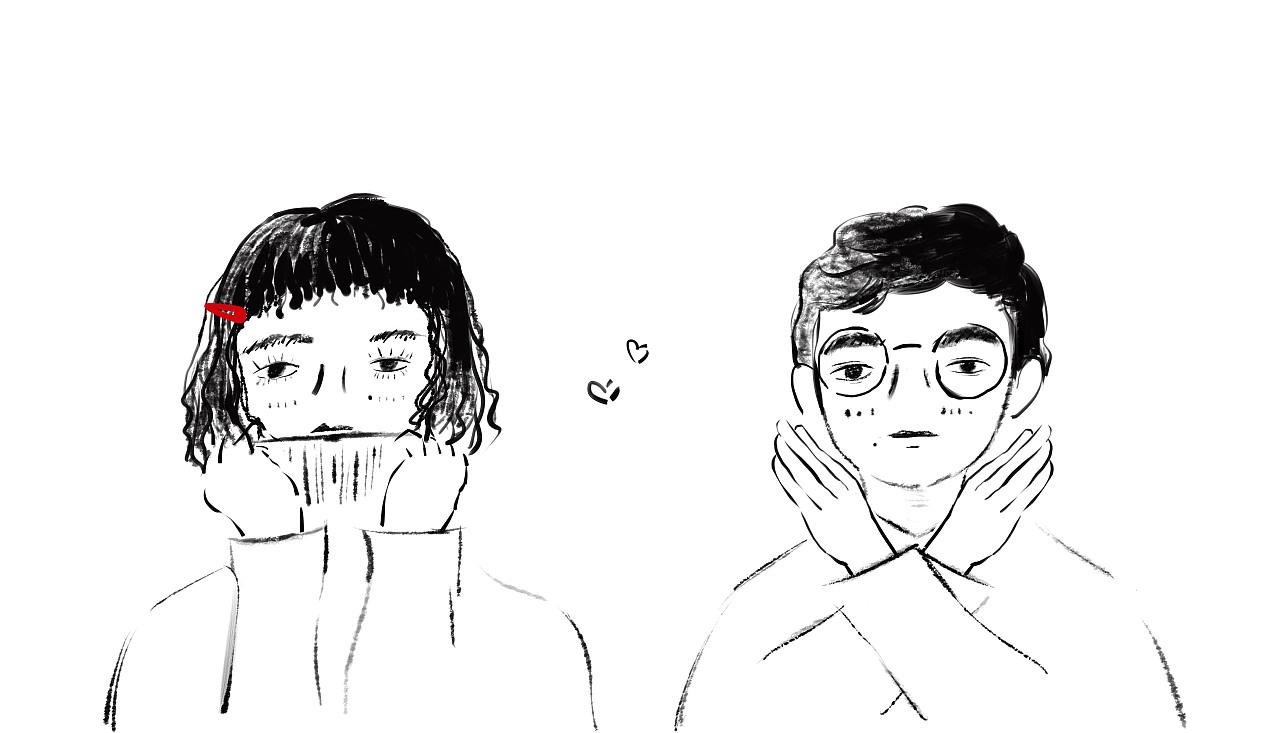小人人物卡通头像恋人纹身情侣漫画时光Q版D情侣趣味漫画图片图片
