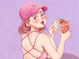 糖果色的夏天