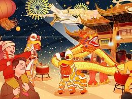 上海龙华寺新春撞龙华晚钟