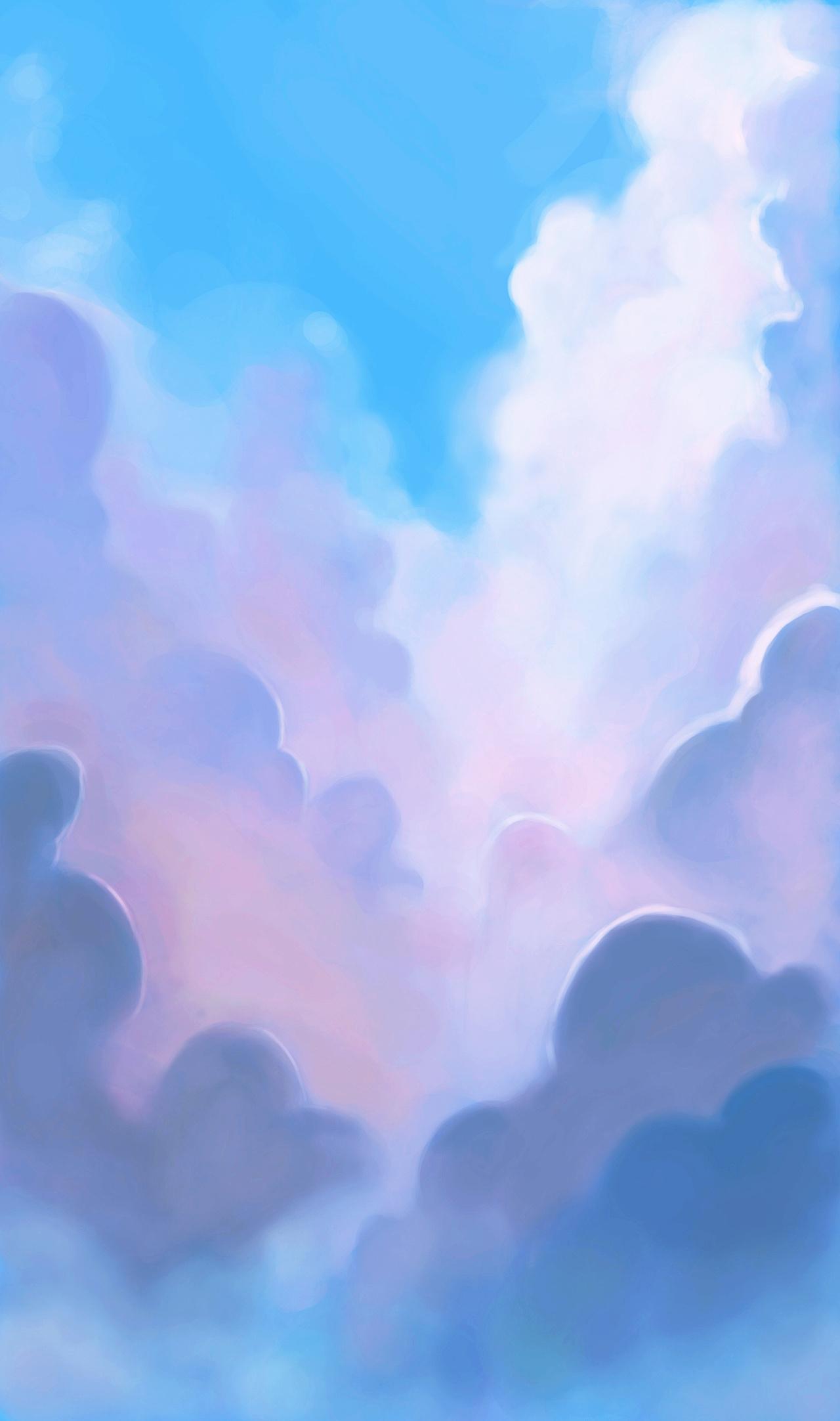 游戏手绘天空背景