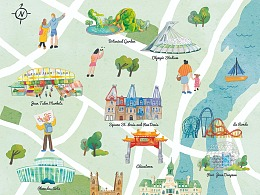 Montreal手绘地图