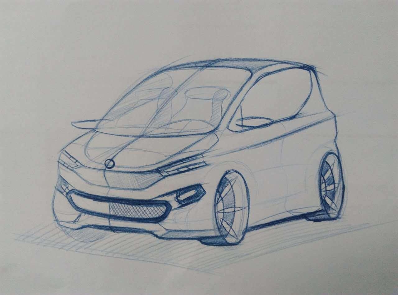 汽车草图效果图|工业/产品|交通工具|王数 - 原创作品
