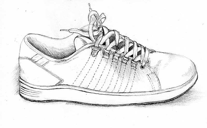 鞋子图片手绘图片