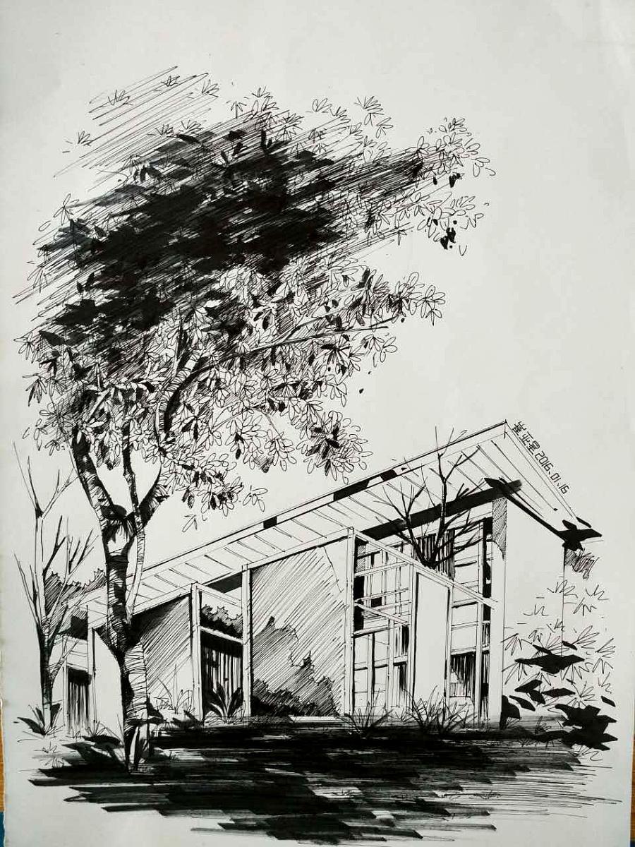 马克笔手绘|水彩|纯艺术|indesign丶远方图片