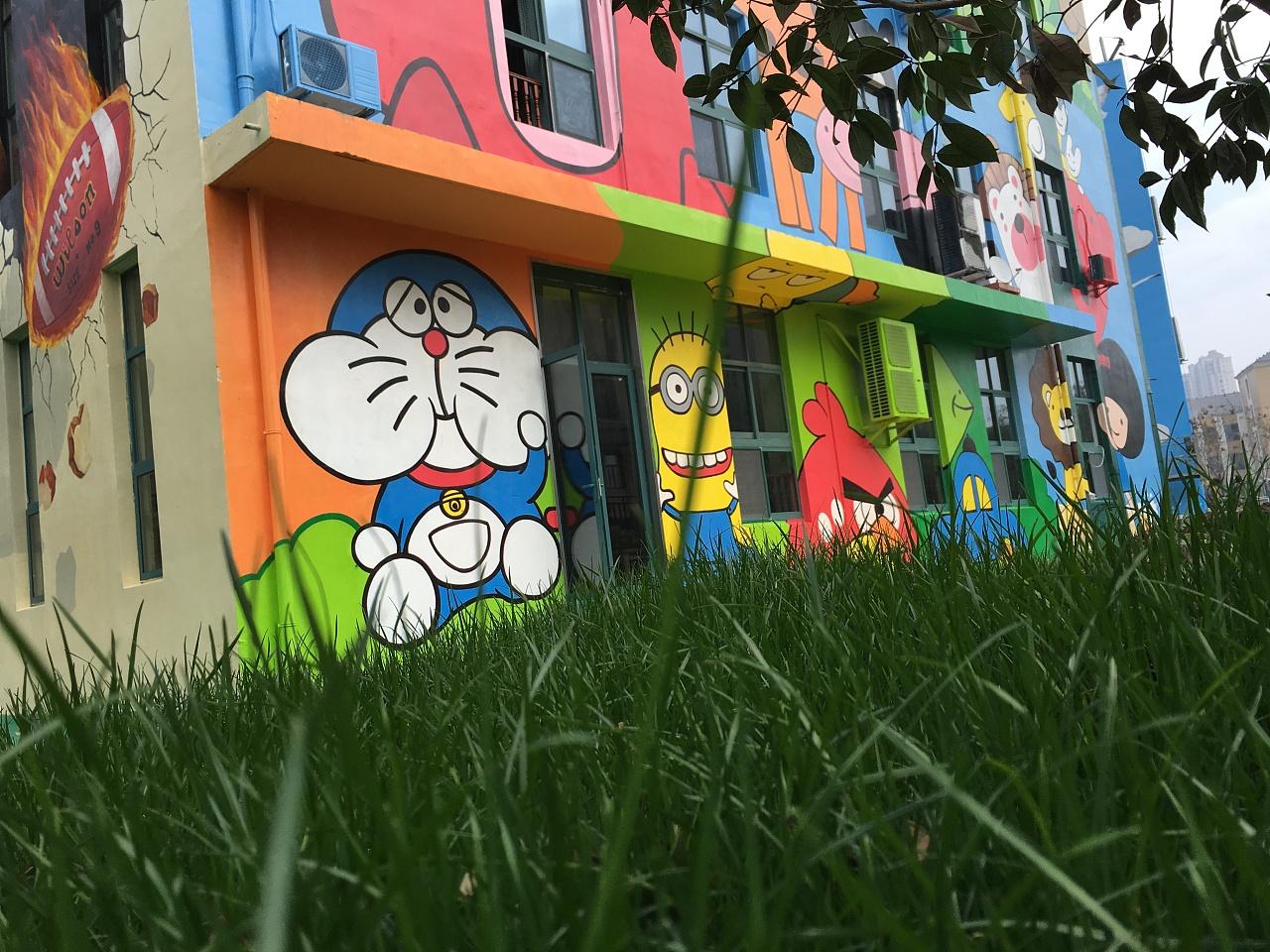 新空间墙绘艺术装饰, 墙绘学校 彩绘幼儿园图片