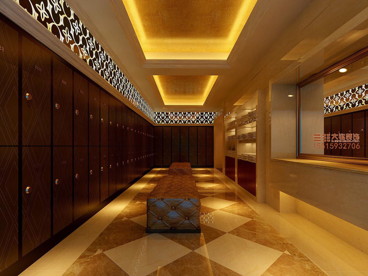登封洗浴装修设计效果图|洗浴中心装修设计|专业洗浴装修设计|郑州