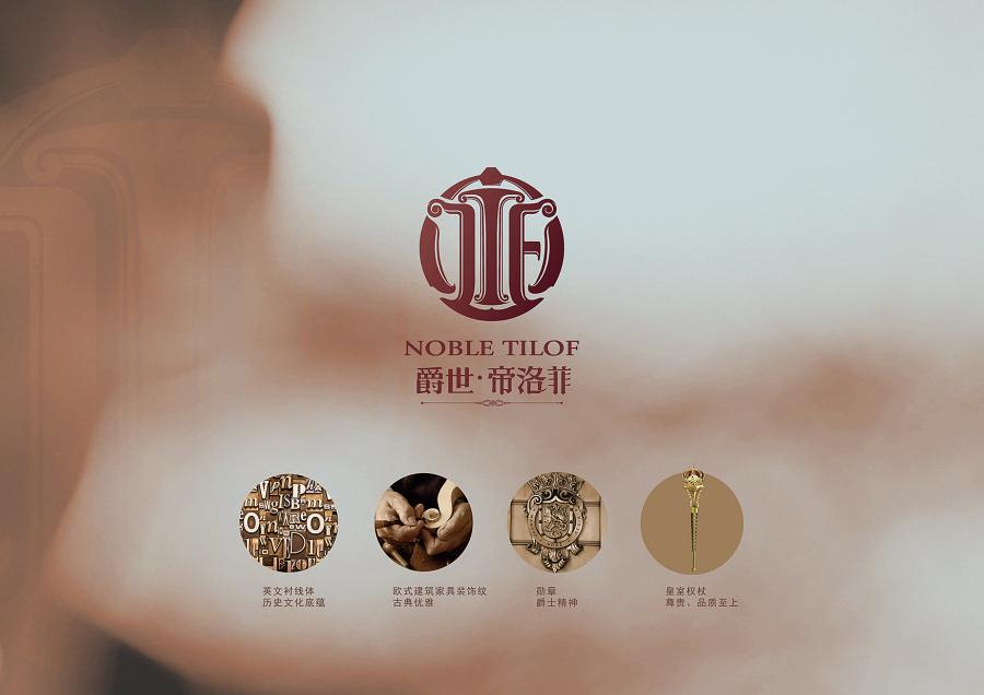 帝洛菲字体品牌logo标志v字体|平面|标志|灬流白品牌与家具形象设计图片