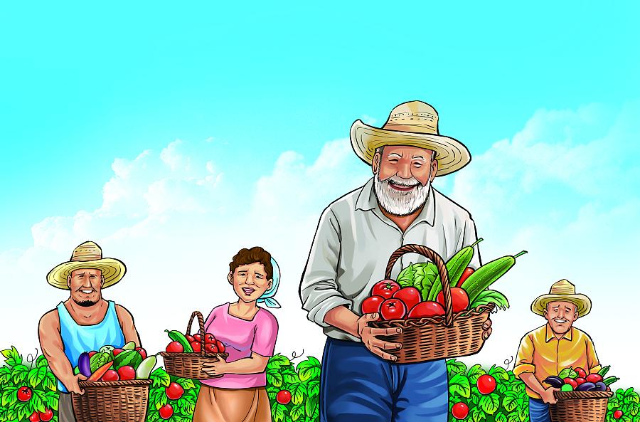 农夫庄园包装设计插画|图形/图案|平面|老徐漫画