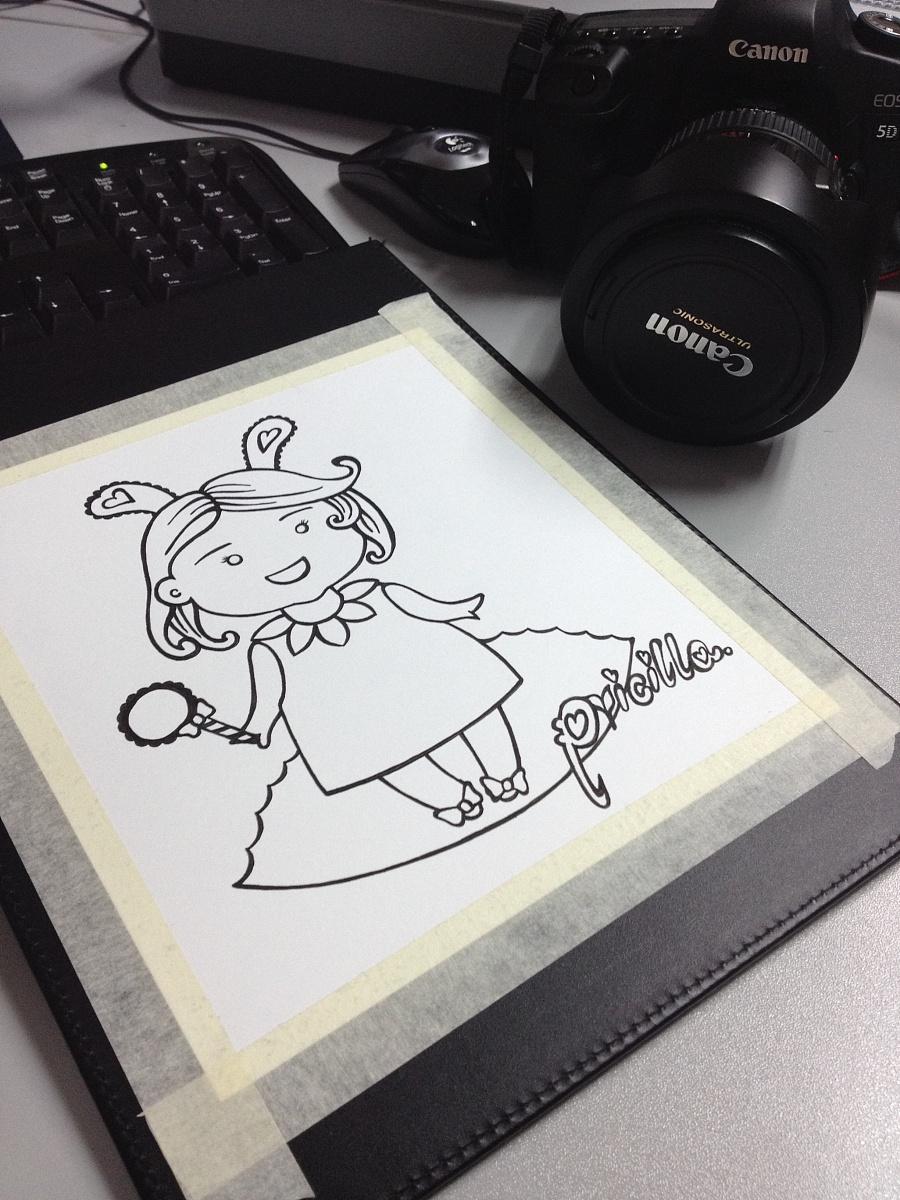 pricilla海的女儿手绘彩色铅笔习作