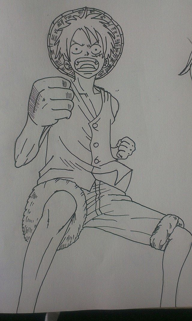 手绘临摹海贼王