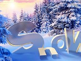 一周一练-C4D合成标签-SNOW
