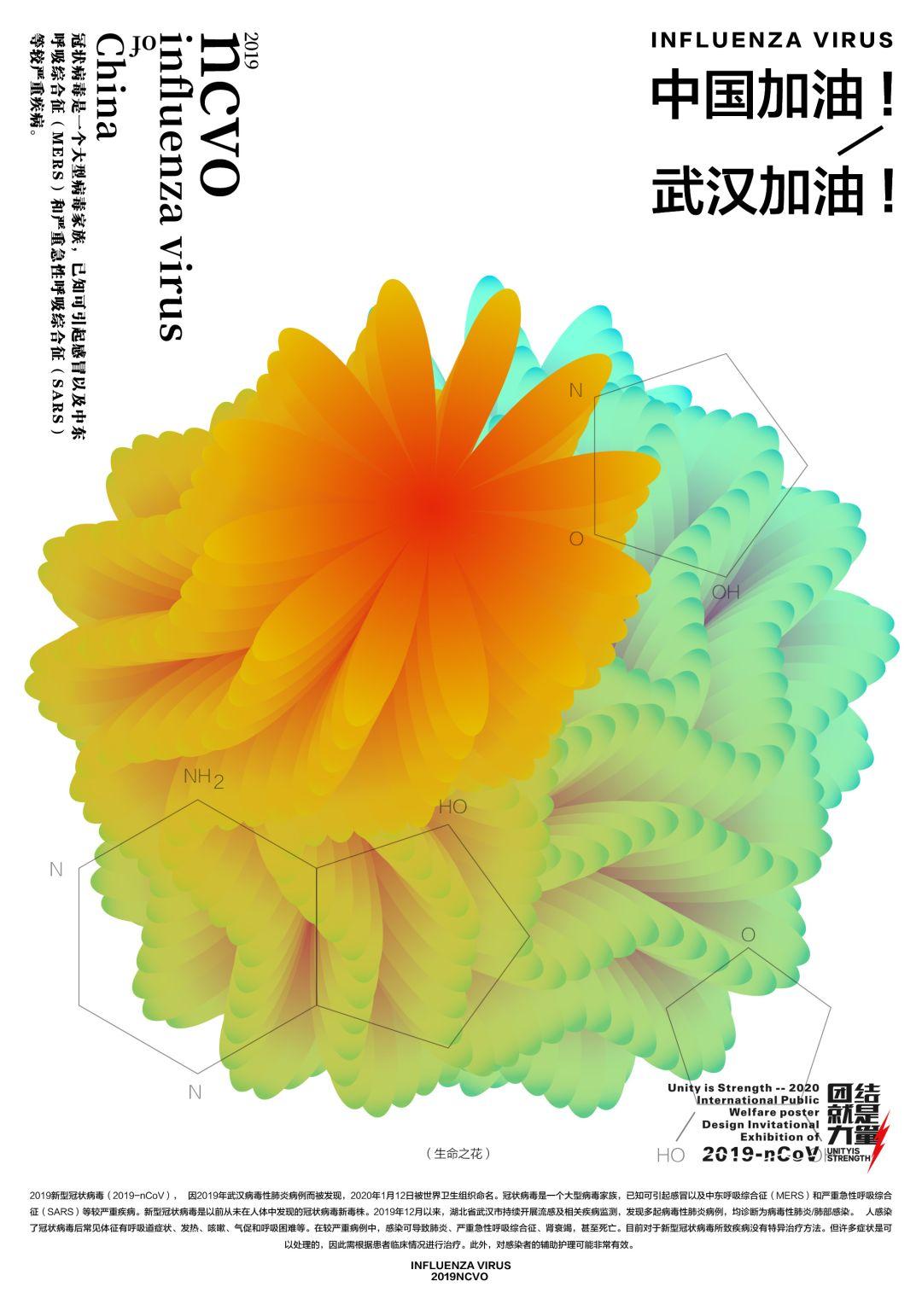 """团结就是力量——2020抗击""""新型冠状病毒""""国际公益海报设计邀请展纪实合集一插图(9)"""