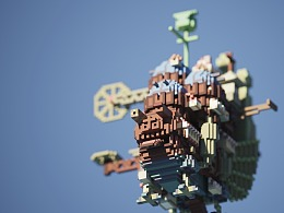 magicavoxel:Howl's Moving Castle