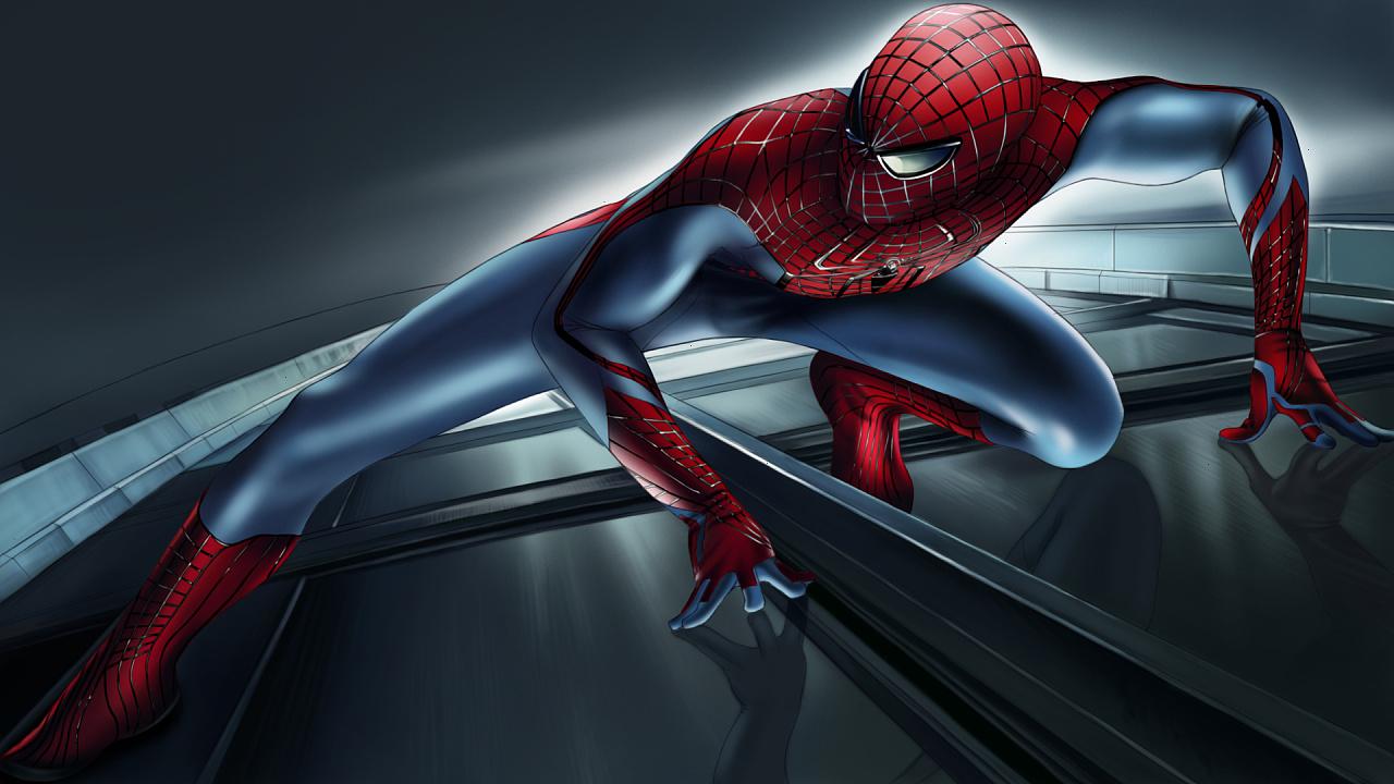 教你ps手绘:超凡蜘蛛侠 细致