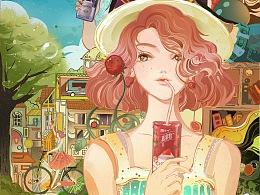 两张海报 「一夏更美丽」+「噬尾微电影的海报」