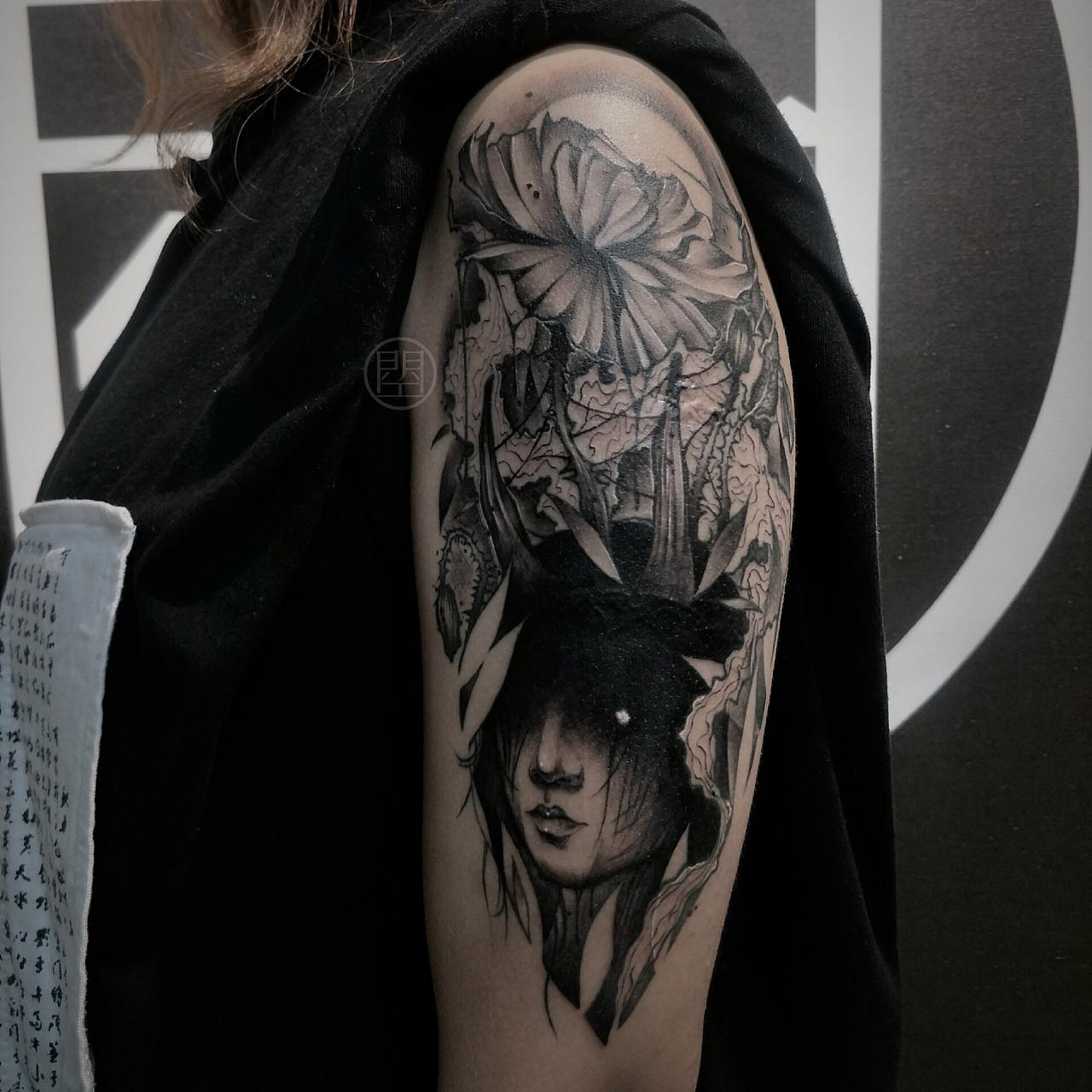 暗黑#纹身#遮盖图片