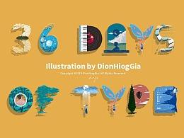 36 Days of Type | DionHiogGia