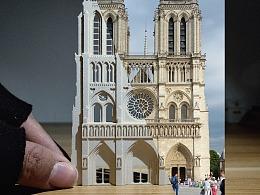 巴黎圣母院小纸雕