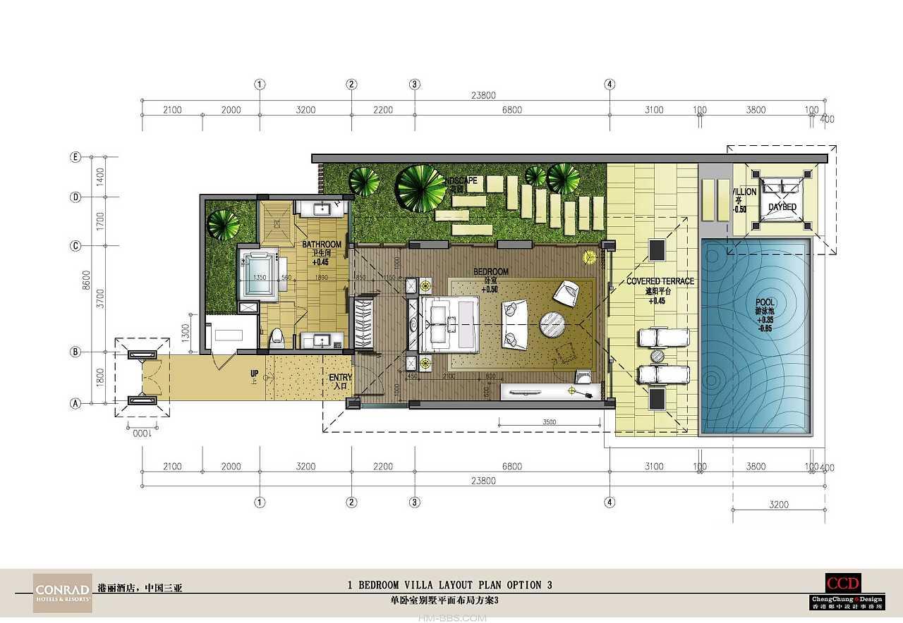 三亚港丽逸林度假酒店 空间 室内设计 室内手绘