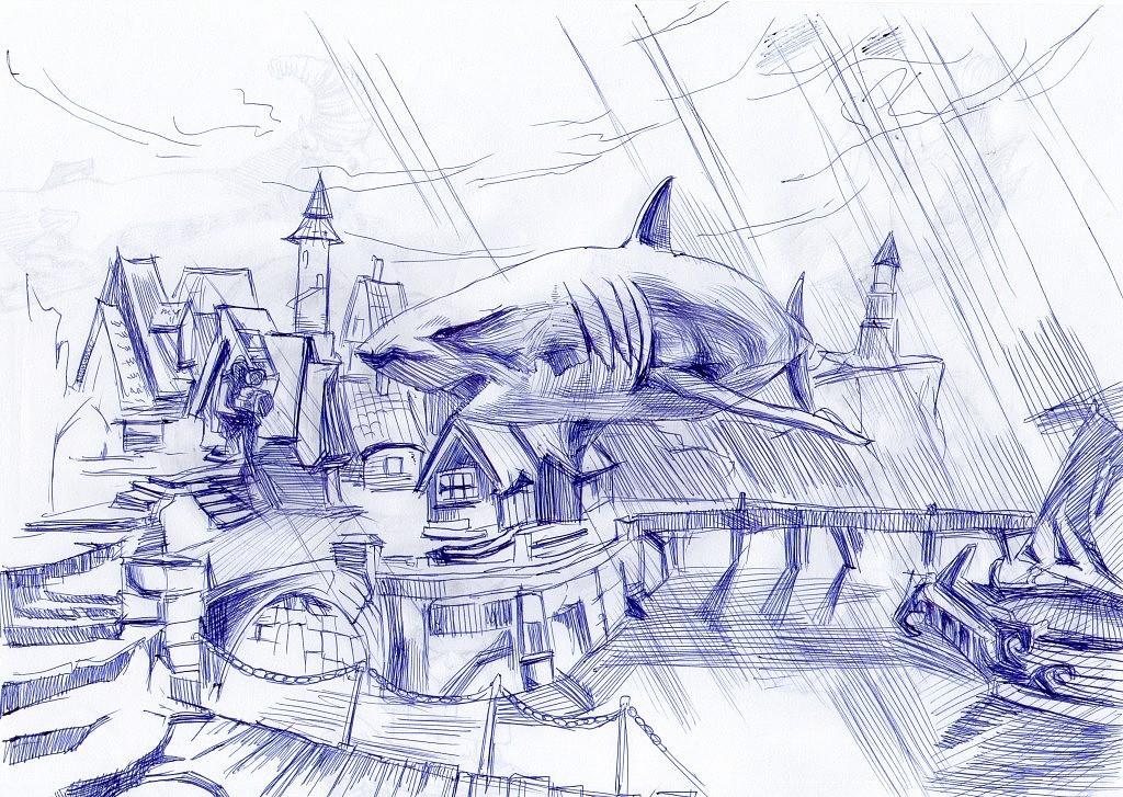 鲨鱼图片简笔画
