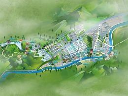 全国手绘地图智能导航2.5D地图3D地图制作