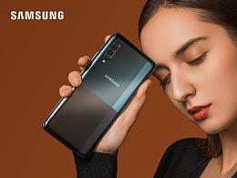 5G新生代   三星Galaxy A90手机平面拍摄