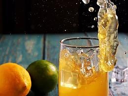 宁波饮品奶茶果汁店形象菜单设计上门拍照摄影: 橙汁