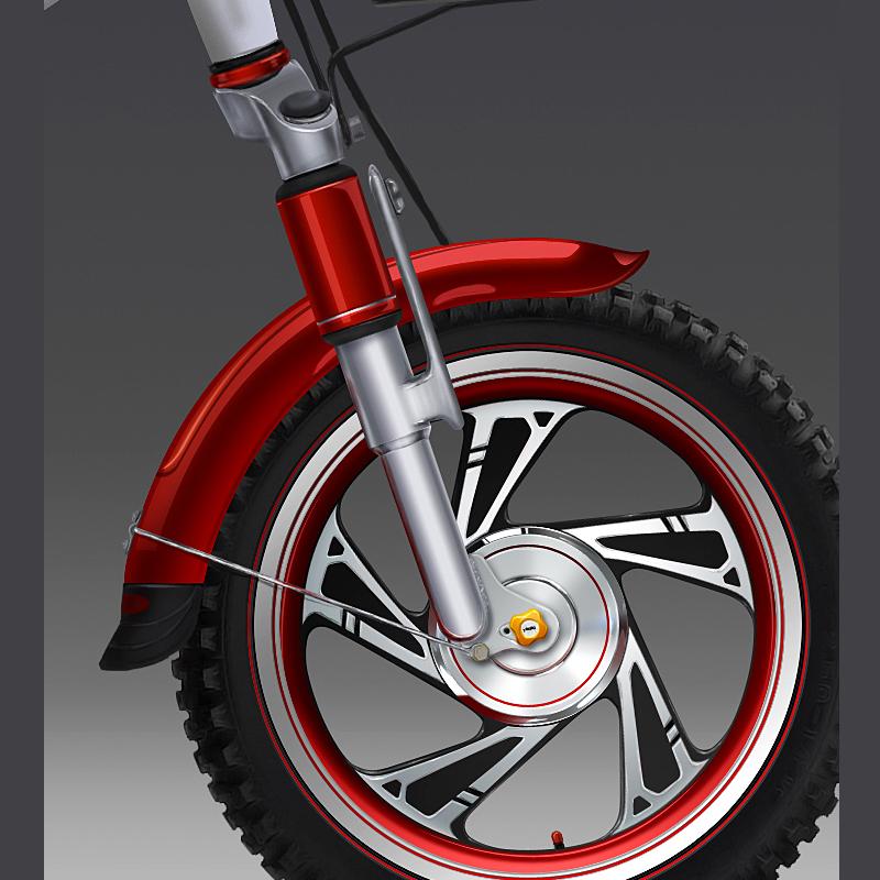 电动自行车手绘(设计稿) 交通工具 工业/产品 咩小大