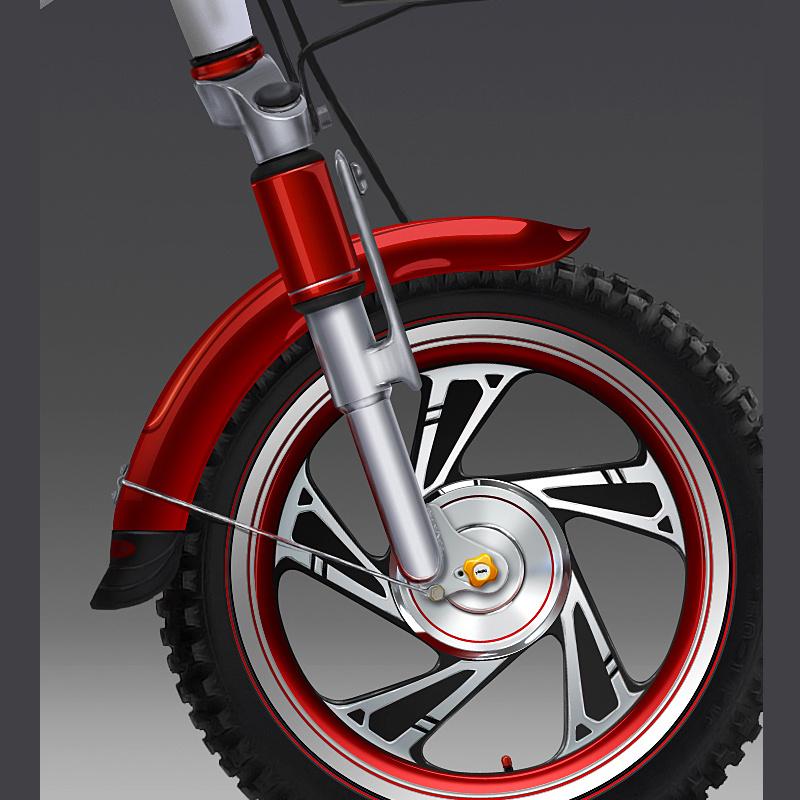 电动自行车手绘(设计稿)