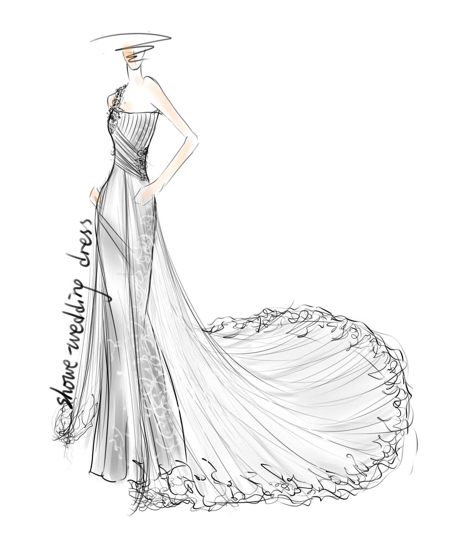 婚纱设计手稿