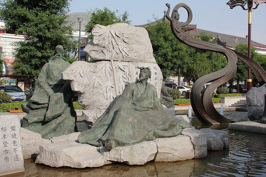 大雁塔广场的城市雕塑