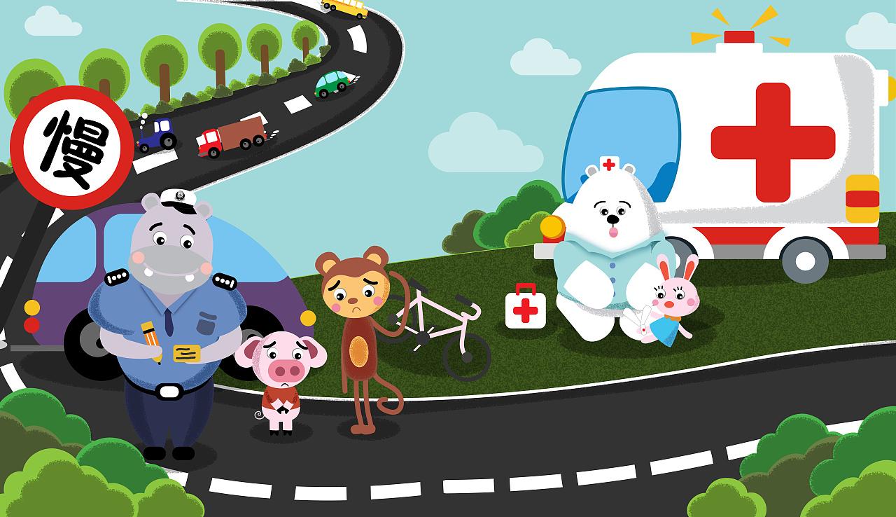 大众汽车儿童插画