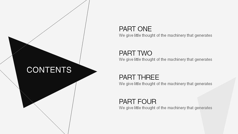 【b&w】黑白简约工作汇报模板(动静双版本)|平面|ppt图片