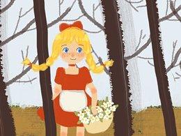 森林里的小姑娘