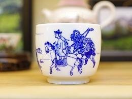 【造物集】大唐西域记 青花手绘 茶器