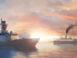 历史的轮回 --中国海军护卫舰停靠伦敦金丝雀码头